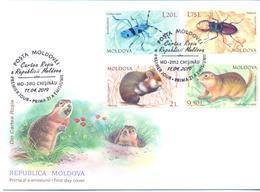 2019. Moldova, Red Book Of Moldova, Insects & Rodents, FDC, Mint/** - Moldova