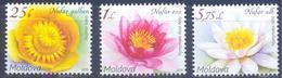 2019. Moldova, Flora Of Moldova, Water Lilies, 3v, Mint/** - Moldova