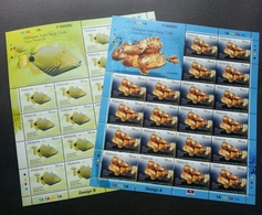 Malaysia Brunei Joint Issue Unique Marine Life 2006 2007 Ocean Underwater Fish (sheetlet) MNH *VIP *P000000 *rare - Malaysia (1964-...)