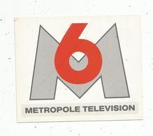 Autocollant ,télévision,M6 , Métropole Télévision - Autocollants