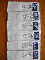 Réunion : Six Lettres Avec La Série Complète Personnages Célèbres De 1998 Et Oblitérations Mécaniques Des Camélias - Reunion Island (1852-1975)