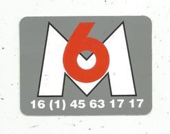 Autocollant ,télévision, M6 - Autocollants