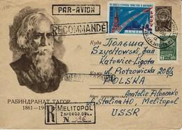 UdSSR CCCP Sowjetunion 1961 - Rabindranath Tagore,  Nobelpreis Für Literatur - Ganzsache - Prix Nobel