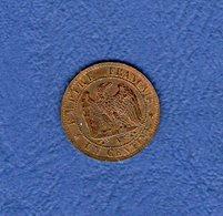 "1 Centime ""A""_1853_Second Empire - Frankreich"