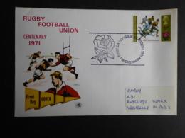 GREAT BRITAIN [UK] SG 889 RUGBY FOOTBALL UNION CENENARY FDC POSTMARK TWICKENHAM - FDC