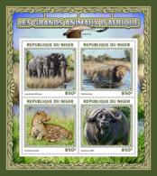 Niger 2016  Fauna  African Animals, Elephant , Lion ,leopard ,buffalo - Niger (1960-...)