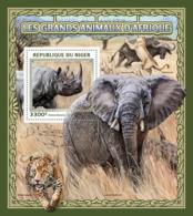 Niger 2016  Fauna  African Animals, Elephant , Lion ,rhino - Niger (1960-...)