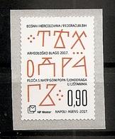 BOSNIA AND HERZEGOVINA  2017,POST MOSTAR,ARCHAEOLOGY,ahesive,selbstik,MNH - Archaeology