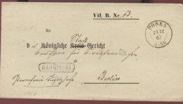 1872 Posen Amts-Briefh. M. Pr.Namensstempel N. Berlin - Lettres