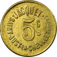 Monnaie, France, Jacquet (boulanger), Saint-Just-en-Chevalet, 5 Centimes, SUP - Monétaires / De Nécessité