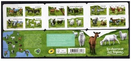 France 2015 - Chevres De Nos Regions ** Stamp Booklet Mnh - Cruz Roja