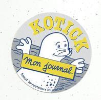 Autocollant, Scoutisme ,FEEUF ,louveteaux ,louvettes , Mon Journal ,  KOTICK - Autocollants