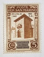1943 Timbre San Marino Surcharge - Saint-Marin