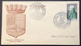 D423-1 La Roche Sur Yon Cent Cinquantenaire Napoléon Vendée 5 Prairial An XII 22-23/5/1954 969 Lavallette - Postmark Collection (Covers)