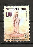 BOSNIA AND HERZEGOVINA 2016  ,POST MOSTAR,RELIGION,NEDJUGORJE,MNH - Bosnia And Herzegovina