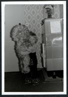 C5541 - TOP Foto - Kleines Kind Mit Teddy - Ofen Kachelofen - Fotografie