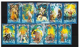 TNT184 DÄNEMARK - FÄRÖER 2003  Michl 436/45 SATZ ** Postfrisch SIEHE ABBILDUNG - Färöer Inseln
