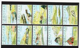 TNT186 DÄNEMARK - FÄRÖER 2004  Michl 473/82 SATZ ** Postfrisch SIEHE ABBILDUNG - Färöer Inseln