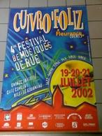 Affiches - Cuivro'Foliz - Fleurence Gers 4 ème Festival De Musiques De  Rue En 2002. - Affiches & Posters