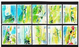 TNT193 DÄNEMARK - FÄRÖER 2005  Michl 513/22 SATZ ** Postfrisch SIEHE ABBILDUNG - Färöer Inseln
