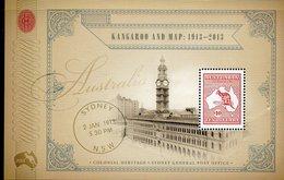 AUSTRALIA, 2013  $10 KANGAROO/MAP MINISHEET MNH - 2010-... Elizabeth II