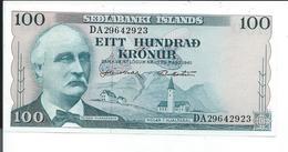 Islande , Billet De 100 , Sedlabanki Islands Eitt Hundrad Kronur - Iceland