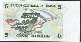TUNISIA P92 5 DINARS 2008  UNC. - Tunisia