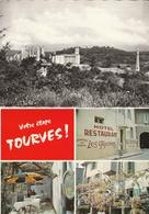 """TOURVES - 2 CPSM : Châzteau De Valbelle - Hôtel Restaurant """" Les Glycines """" Multivues - Other Municipalities"""