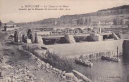 08 -- Ardennes -- Donchery -- Les Usines Sur La Meuse,incendiées Par Les Allemands Dès Leur Arrivée(Août 1914) - Other Municipalities