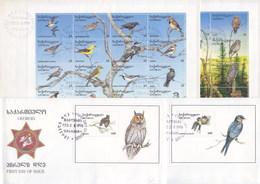 Georgia 1996 Birds FDC - Collezioni & Lotti