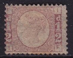 G.B. 1870 Queen Victoria WM Halfpenny (9) ½ D Rose Plate 11 SG 48 MH - Ongebruikt