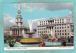 Old Small Post Card Of Trafalgar Square,London, England,,V92. - Trafalgar Square