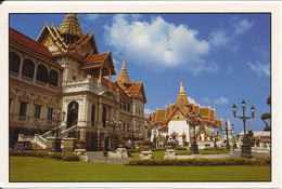 Thailand Postcard Sent To Denmark 3-5-1995 (Grand Palace And Emerald Buddha Temple) - Thailand