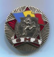 GMA Sport - Romania, Vintage  Pin, Badge, Abzeichen, Enamel - Pin