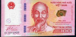 VIETNAM P125 100 DONG 2016 COMMMEMORATIVE 65TH ANNIVERSARY  UNC. - Vietnam