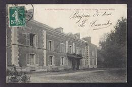 CPA 27 - LA CHAPELLE-REAUVILLE - Château Du Froc De Launay - Ancienne Abbaye - TB PLAN EDIFICE + Façade + Oblitération - Francia