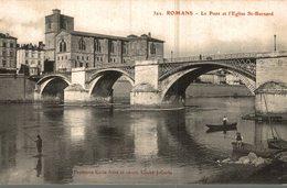 26 ROMANS  LE PONT ET L'EGLISE SAINT-BARNARD - Romans Sur Isere