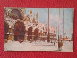 POSTAL POST CARD CARTE POSTALE ITALIA ITALY VENETO VENECIA VENEZIA VENICE PIAZZA E CHIESA S. MARCO SAINT MARC VER FOTOS - Venezia (Venice)