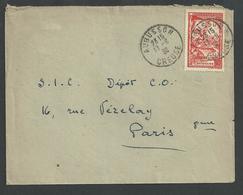 Aubusson , Creuse , N° 442 Grégoire De Tour Seul Sur Lettre Du 17 6 1939 - Marcophilie (Lettres)