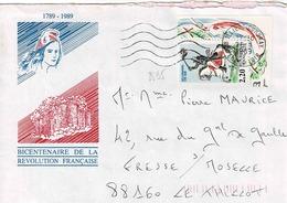TP N ° 2595 Seul Sur Enveloppe De Illiers Combray - Poststempel (Briefe)