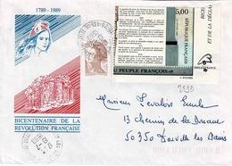 TP N ° 2599 Et Marianne  Sur Enveloppe De Issy Les Moulineaux - Marcophilie (Lettres)