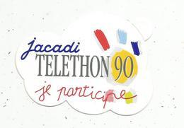 Autocollant, JACADI ,TELETHON 90 , Je Participe - Pegatinas