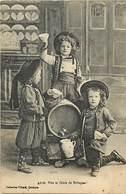 - Finistère  -ref-E227- Vive Le Cidre De Bretagne - Enfants - Costumes - Folklore - Carte Bon Etat - - France
