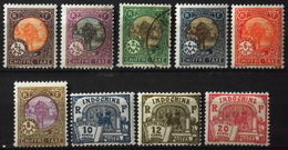 France (ex-colonies & Protectorats) > Indochine 1927 Timbres-Taxe N° 44 à 54 (sauf Le 46 Et 48) Y & T Neufs*/O - Indochina (1889-1945)