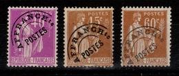 Preoblitere YV 70 / 71 / 72 (*) Paix Cote 6,20 Euros - 1893-1947