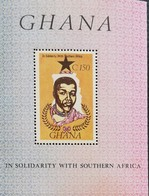 Ghana  1987 Solidarity With South  Africans For Abolition Of Apartheid  S/S - Ghana (1957-...)