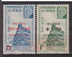 NIGER        N°  YVERT   95/96     NEUF AVEC CHARNIERE      ( Char 02/22 ) - Niger (1921-1944)