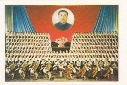 North Korea Pyongyang - Palace Of Students , Music Orchestra & Choir . Great Leader - Korea, North