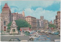 Bombay: OLDTIMERS AUSTIN MORRIS, FIAT 1100, PREMIER, DOUBLE DECK TRAILER BUS - Flora Fountain - (India) - Toerisme