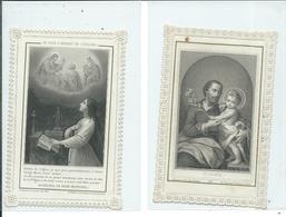 2 Images Pieuses-Je Suis L'Enfant De L'Eglise Et St Joseph - Images Religieuses